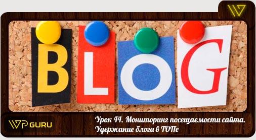 мониторинг посещаемости блога
