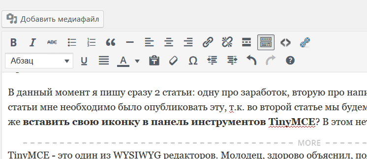 WYSIWYG wordpress